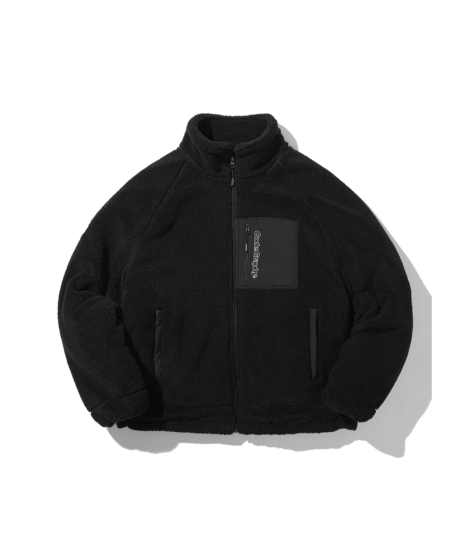 HEAVY BOA FLEECE JACKET - BK