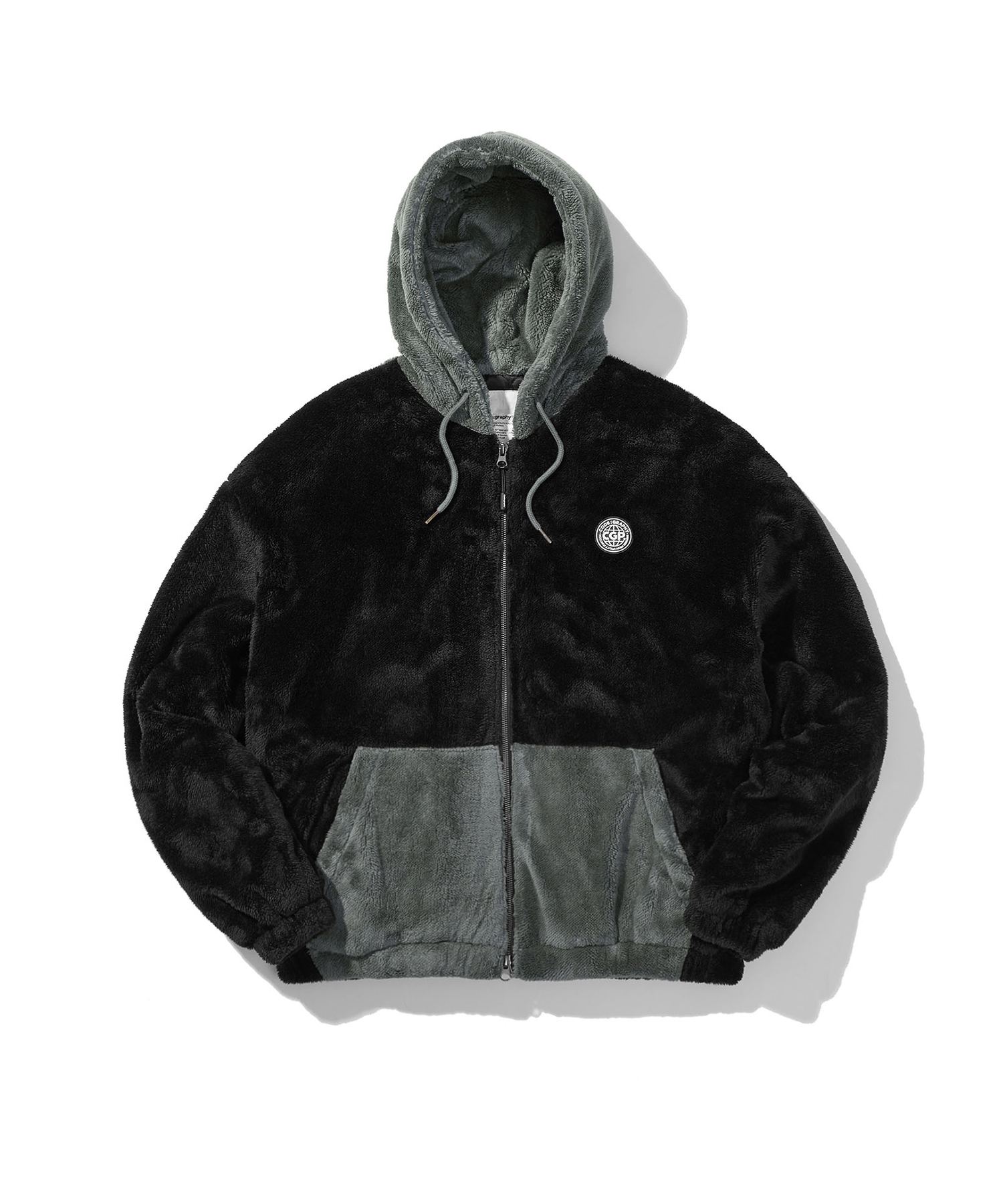 HEAVY BOA FLEECE HOOD JACKET - BK
