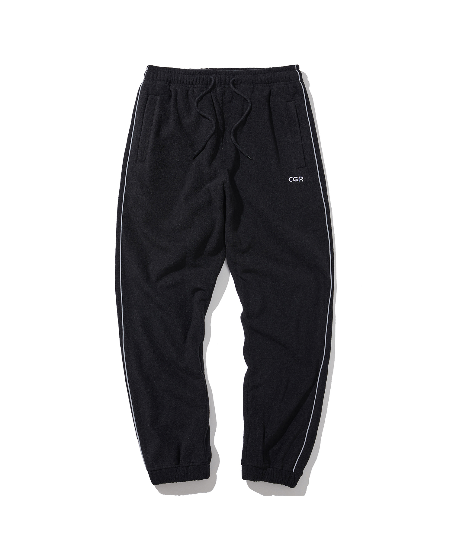 PIPING FLEECE JOGGER PANTS - BK