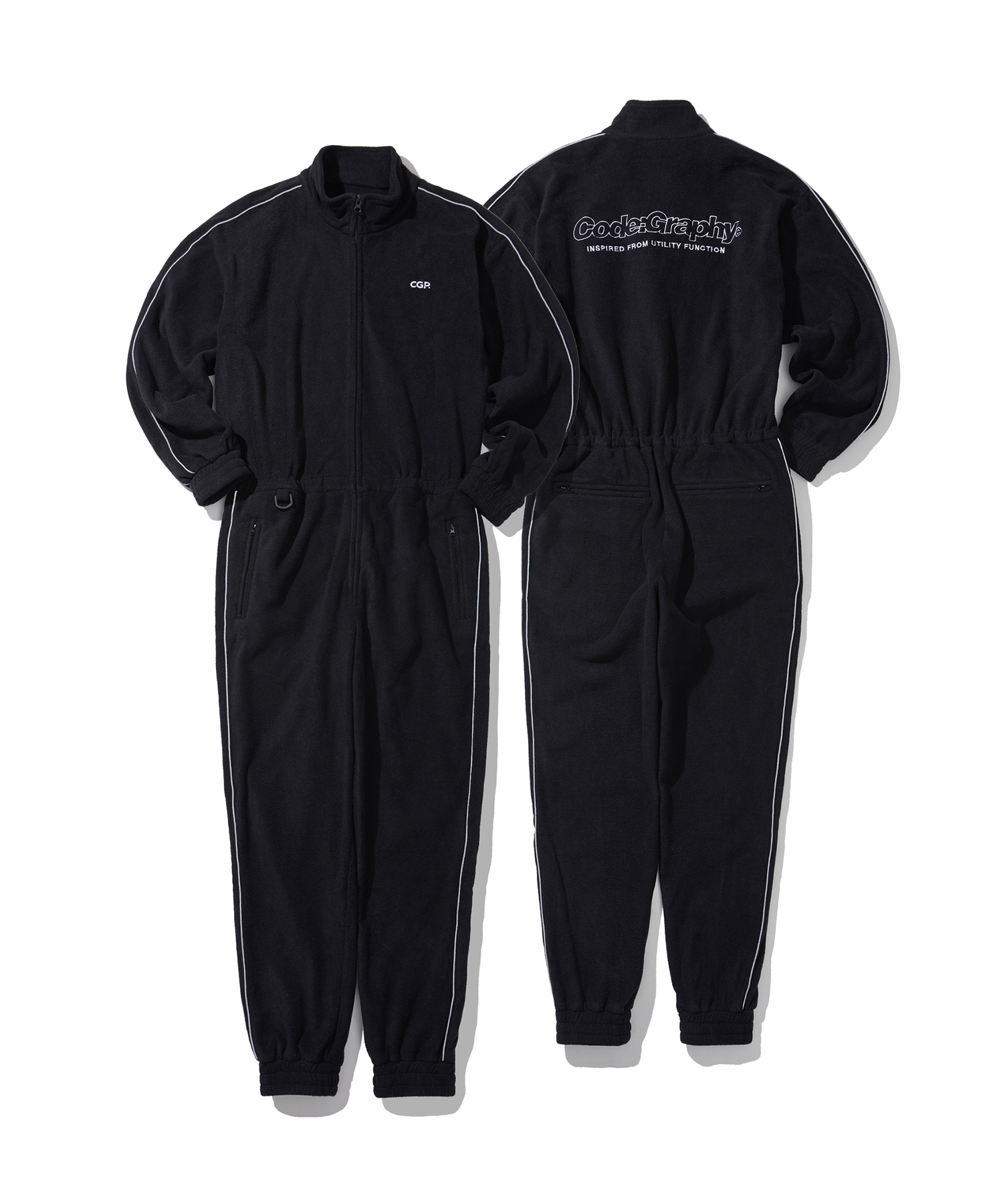 FLEECE JUMP SUIT - BK